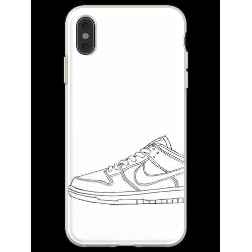 SB Dunk Sketch Sneaker Kunst Flexible Hülle für iPhone XS Max