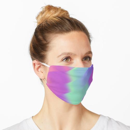 Schillernde bunte Holofolie Maske