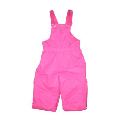 Faded Glory Snow Pants With Bib - Adjustable: Pink Sporting & Activewear - Size Large