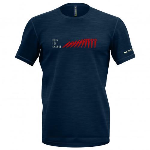 Crazy Idea - Joker - T-Shirt Gr L blau