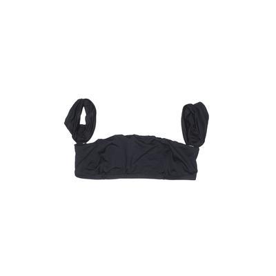 Vitamin A Swimsuit Top Black Solid Swimwear - Used - Size Medium