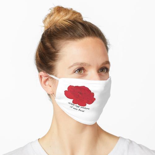 TBS American Beauty Langstielige Rote Rose Maske