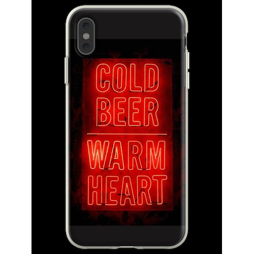 kaltes Bier warmes Herz Flexible Hülle für iPhone XS Max
