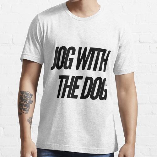 mit dem Hund joggen Essential T-Shirt