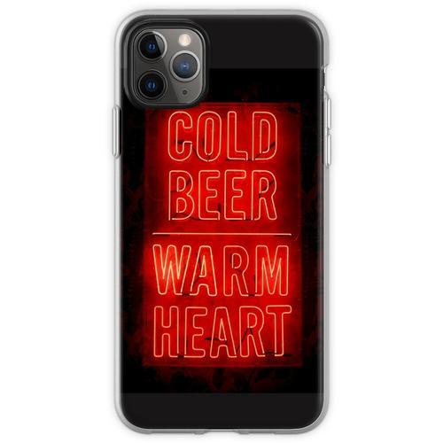 kaltes Bier warmes Herz Flexible Hülle für iPhone 11 Pro Max