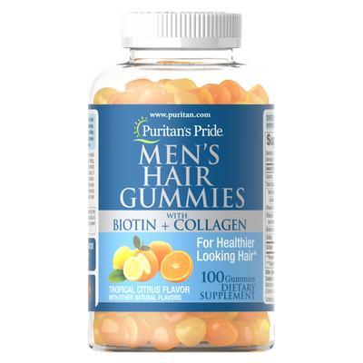 Puritan's Pride Men's Hair Gummies with Biotin and Collagen-100 Gummies