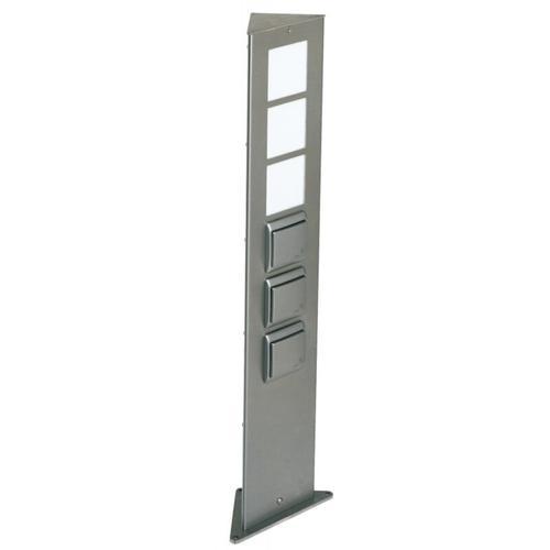 Albert - Steckdosensäule E27 max. 20W 1xSchalter 2xSteckdose