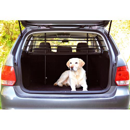 TRIXIE Tierabsperrgitter, Metall, Montage ohne Bohren und Schrauben, 140 cm breit schwarz Hundetransport Hund Tierbedarf Tierabsperrgitter