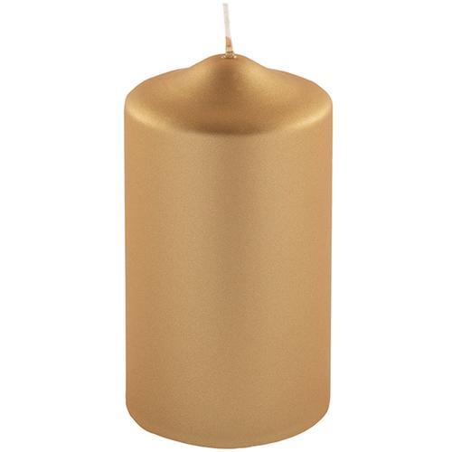 Fink Stumpenkerze, in Metallic-Optik, Höhe ca. 15 cm goldfarben Kerzen Laternen Wohnaccessoires Stumpenkerze
