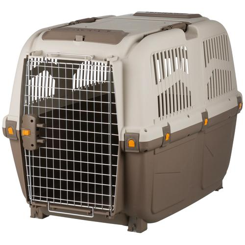 TRIXIE Tiertransportbox Skudo Gr. M-L, bis 40 kg, BxTxH: 63x92x70 cm beige Hundetransport Hund Tierbedarf