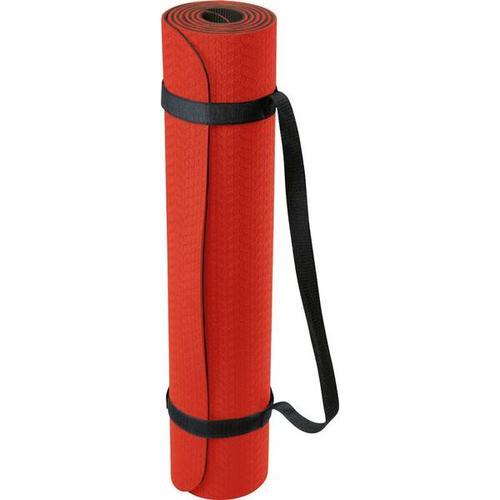 DEUSER Yoga-Matte (TPE) - rot/schwarz, Größe - in ROT