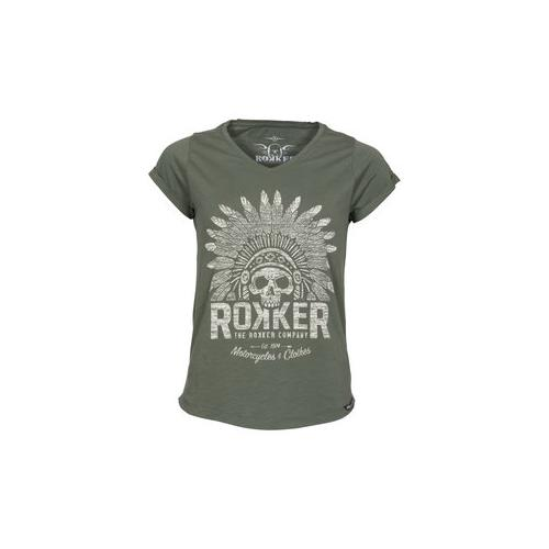 Rokker Indian Bonnet Damen T-Shirt grau L