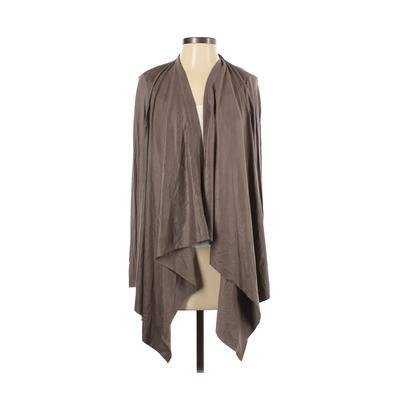 Jane and Delancey Kimono: Tan Solid Tops - Size Small