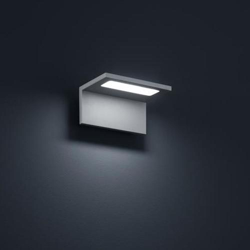 LED Wandleuchte Drift in silbergrau 6W 450lm IP54