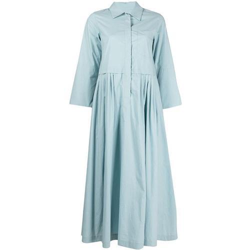 ODEEH Hemdkleid mit Falten