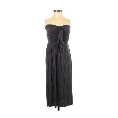 J.Crew Casual Dress - Party: Gray Solid Dresses - Used - Size 2