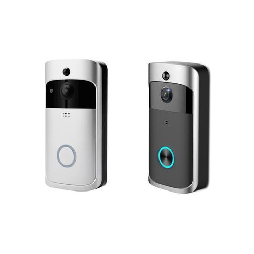 XM3 Wi-Fi Türklingel mit Empfänger und 2 Batterien: Schwarz
