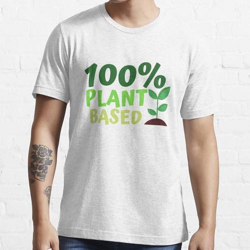 100% pflanzlicher, pflanzlicher Liebhaber, pflanzliches Leben Essential T-Shirt