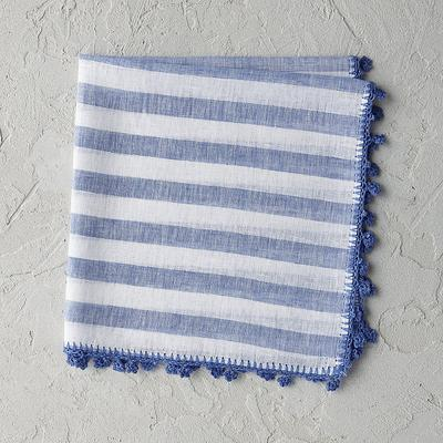 Set of 4 Linea Napkins - Blue - ...