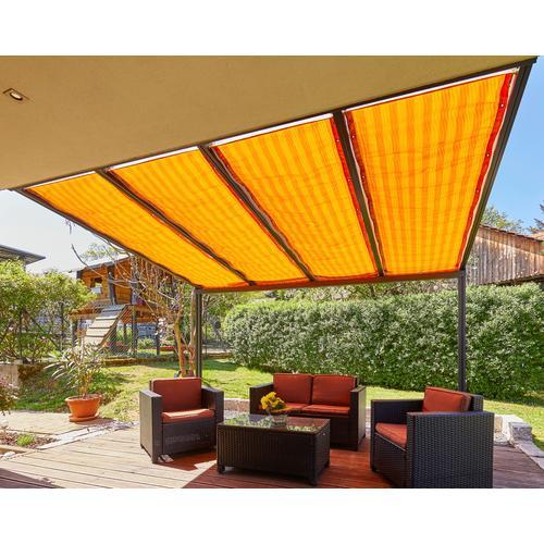 GUTTA Seilspannsonnensegel Golden Crop, BxT: 94,5x490 cm orange Sonnensegel Sonnenschirme -segel Gartenmöbel Gartendeko