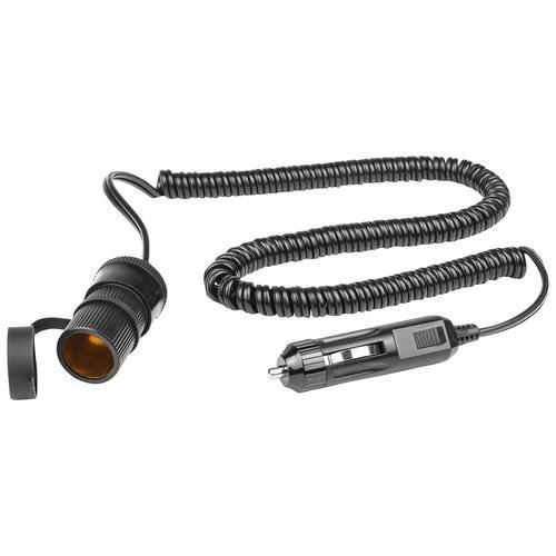 EUFAB Verlängerungskabel, 250 cm, 12 V, Spiralkabel schwarz Auto-Elektronik Autozubehör Reifen Verlängerungskabel