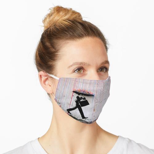 Banksy Regenbogen Regenschirm Maske