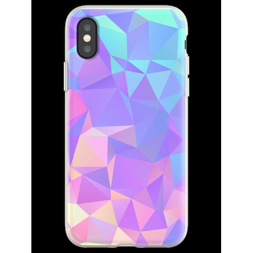 Kristallstruktur Low Poly Pattern Design Flexible Hülle für iPhone XS