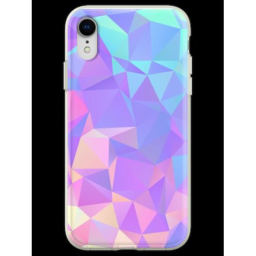 Kristallstruktur Low Poly Pattern Design Flexible Hülle für iPhone XR