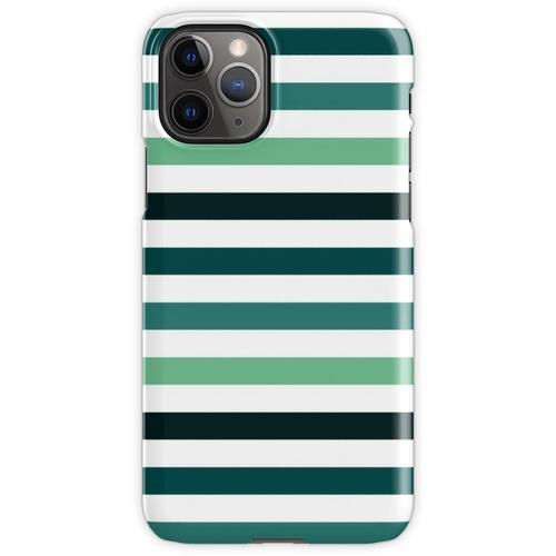 Linien - Petrolfarben iPhone 11 Pro Handyhülle