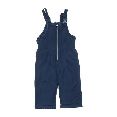 Carter's Snow Pants With Bib - Elastic: Blue Sporting & Activewear - Size 2Toddler