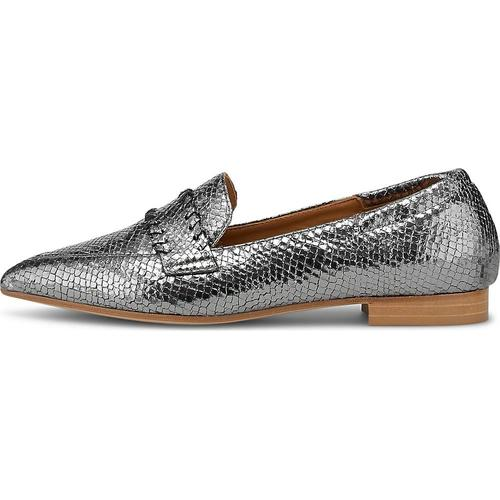 Thea Mika, Slipper in silber, Slipper für Damen Gr. 42