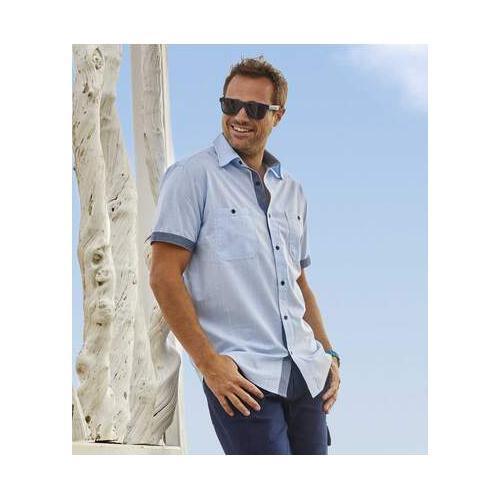 Kurzärmeliges Sommer-Hemd Azur