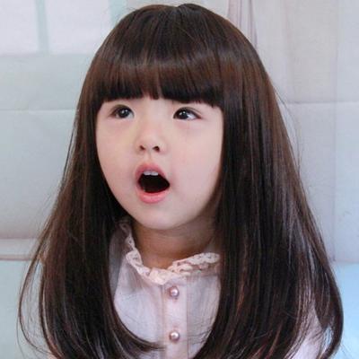 Enfant cheveux marron/noir enfants perruque synthétique résistant à la chaleur fibre droite cadeau