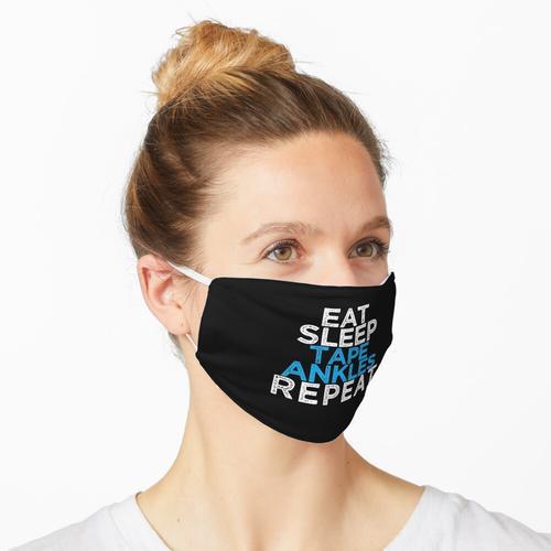 Eat Sleep Tape Knöchel wiederholen Maske