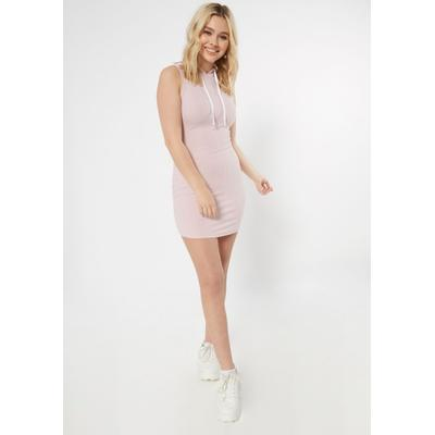 Rue21 Womens Pink Ribbed Knit Hooded Bodycon Dress - Size Xl