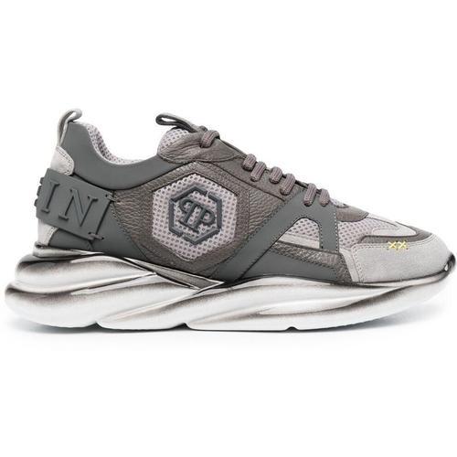 Philipp Plein Sneakers mit sechseckigem Logo