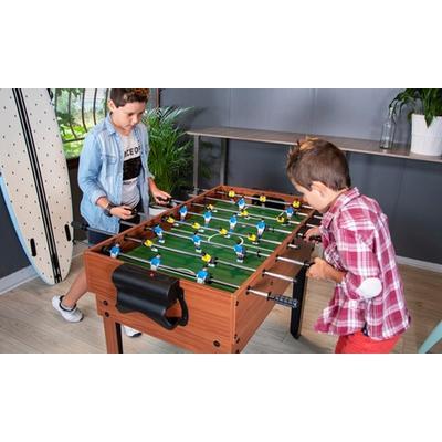 Table ou plateau en bois multi-jeux : Table de 12 jeux sur pieds