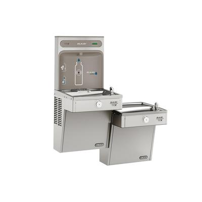 Elkay VRCGRNTL8WSK Wall Mount Bi Level Drinking Fountains w/ Bottle Filler - Refrigerated, Non Filtered