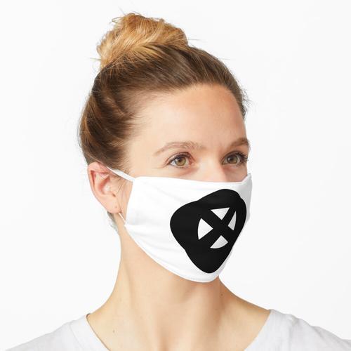 Doppelkreuz Schwarz X Weiß Maske