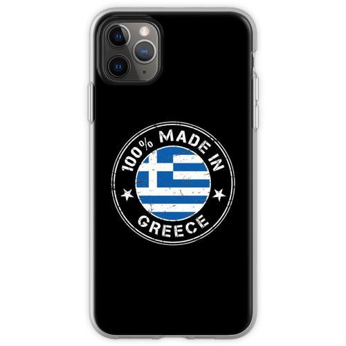 Griechenland griechisch Flagge Fahne Flexible Hülle für iPhone 11 Pro Max