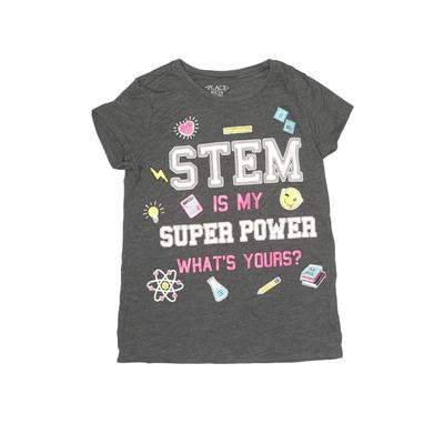 Virgi Children's Wear Short Sleeve T-Shirt: Gray Tops - Size 7