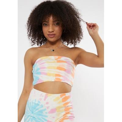 Rue21 Womens Bright Tie Dye Cotton Ribbed Tube Top - Size Xl