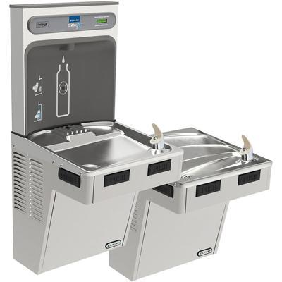 Elkay EMABFTL8WSSK Bi Level Drinking Fountain w/ Bottle Filler - Refrigerated, Stainless Steel