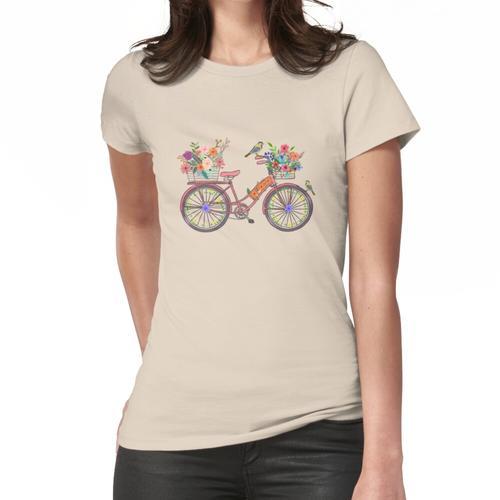 Ein Vogel auf einer Fahrrad-Postkarte von Paris Frauen T-Shirt