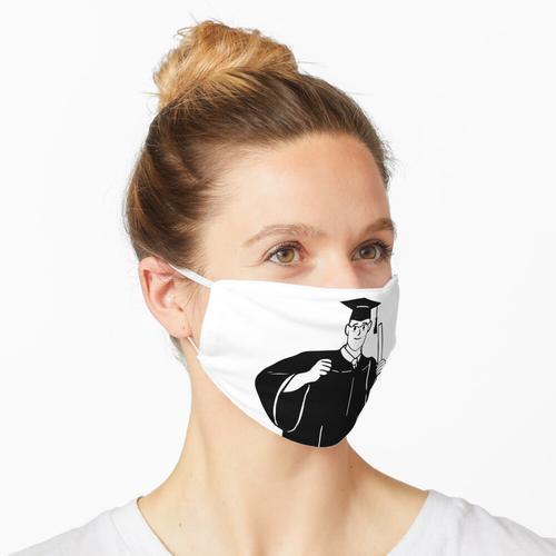 Abschluss | Abschluss-T-Stück für Nerds Maske