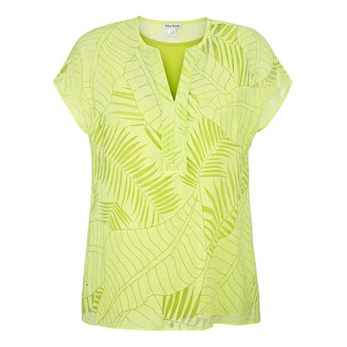 Bluse Alba Moda Limettengrün