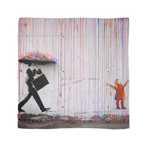 Banksy Regenbogen Regenschirm Tuch