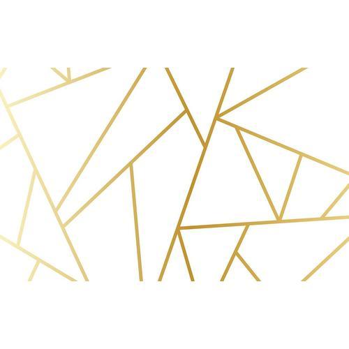 Consalnet Papiertapete »Geom. Figuren/Gold«, geometrisch