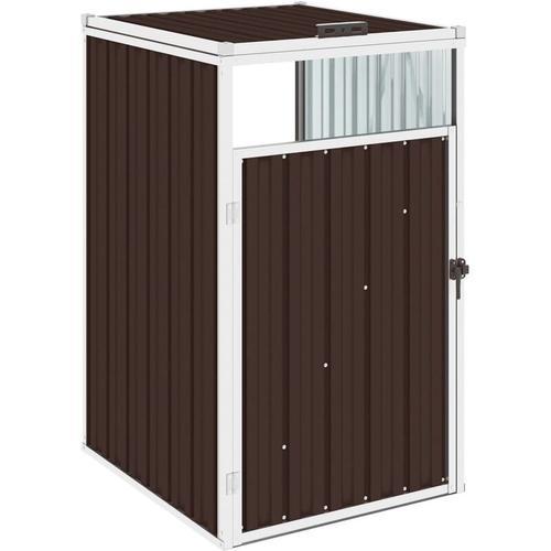 Mülltonnenbox Braun 72×81×121 cm Stahl