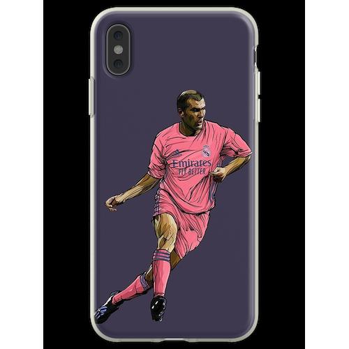 Zidane mit Madrid-Trikot 2020-2021 Flexible Hülle für iPhone XS Max